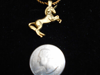 bling gold plated unicorn myth pagan legend pendant charm necklace jewelry druid