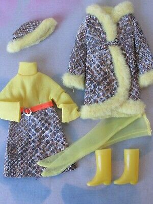 Vintage 1970-71 Barbie FRANCIE Doll Outfit #1245 SNAKE CHARMERS