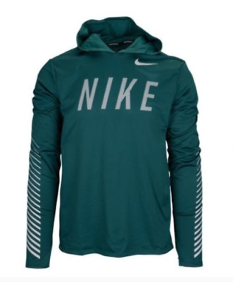 c67507decb73 aq4849-375 New with tag Men s Nike Flash reflective Miler hooded running  shirt