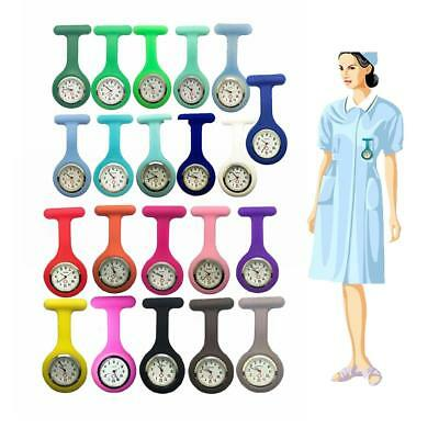 Silicone Nurse Brooch Tunic Fob Watch Nursing Nurses Pendant Extra Pocket Watch