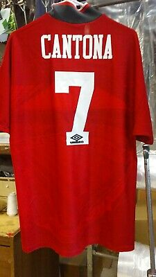 ebc22e9bb Original Official Umbro 1994 Manchester United Eric Cantona Jersey adult XL