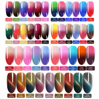 BORN PRETTY Thermal UV Gel Polish Soak Off Color-Changing Glitter Gel Varnish