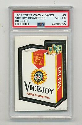 1967 die-cut Topps Wacky Packages packs vicejoy cigarettes  advertising  PSA 4
