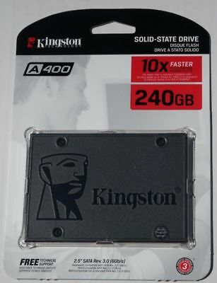 "State 2.5"" Solid 240GB Drive A400 TLC SATA III SSD NEW SA400S37/240G Kingston"