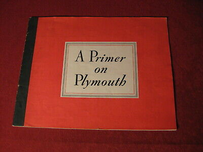 1939 Plymouth Dealership Showroom Sales Dealer Brochure Original Old Catalog