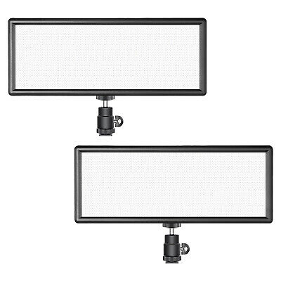 2* Super Fino Bi-Color Regulable Luz de Video LED con Batería y Cargador