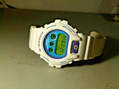 Mens Casio G Shock Dw 6900Cs White Blue Purple Quartz Watch 1289 Module