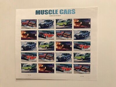 MUSCLE CARS FOREVER STAMPS 2013 20 Stamp Sheet