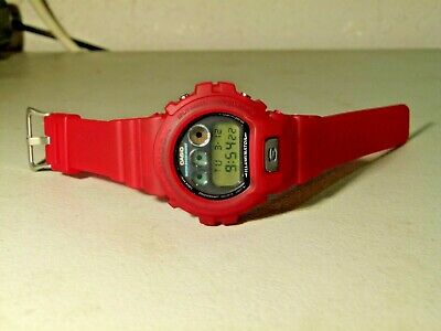 Mens Casio Dw 6900 Multifunction G Shock Watch With New Red Dw 6900Cl Case Strap