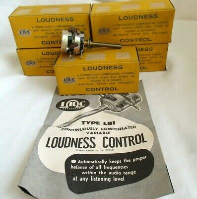 Five  Vintage I.r.c Loudness Continuously Compensated Control New Never Beenused