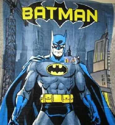 New Batman in City Metropolis Beach Bath Pool Gift Towel Hero Bat Man DC Comics