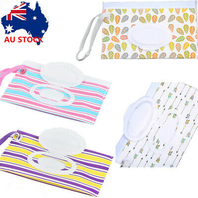 Clean Wipes Carrying Case Wet Wipes Bag Clamshell Cosmetic Pouch Wipes Container