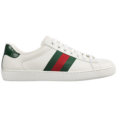 7000008c6e6 Gucci Chaussures Baskets Sneakers Homme En Cuir Mirò Soft Nastro Blanc A54
