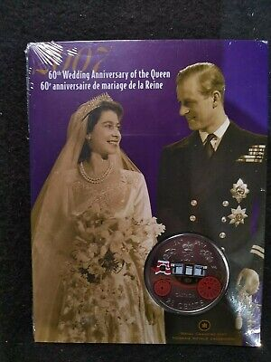 2007 Canada 60th wedding anniversary of the queen 25 cent coin