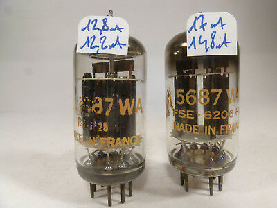 Two 5687WA CSF 5687 WA matched in U61C near NOS pair Tube