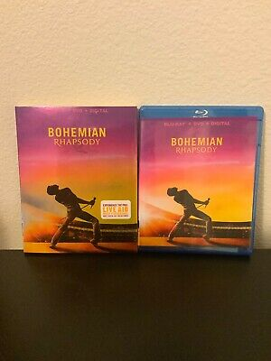 Bohemian Rhapsody Blu Ray & DVD Movie 2019 2 Disc Set Queen Freddie Mercury