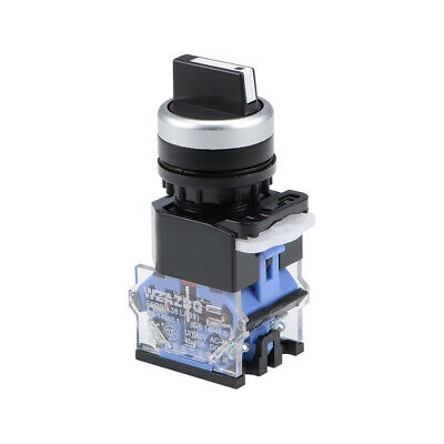 Rotary Selector Switch 3 Positions 2NC Self-Lock Latching AC 660V 10A