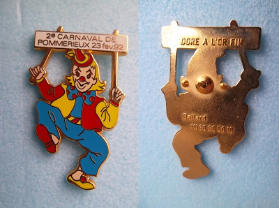 1Beau Pin's Ballard Dore A L'or Fin /Motif:clown