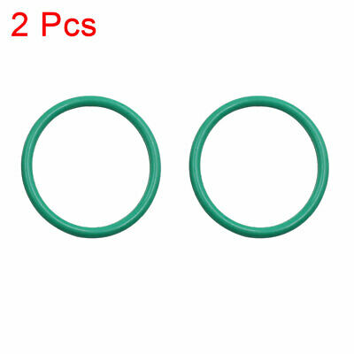2pcs Green Universal Rubber O-Ring Seal Gasket Washer for Car 46mm x 3.5mm