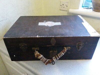 Vintage Wooden Medical Case- St Andrews Ambulance Association 18 X12 X 6  Inch