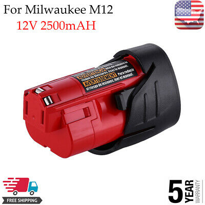 2.5Ah 12Volt Lithium-ion Battery for Milwaukee M12 48-11-2420 48-11-2401 US