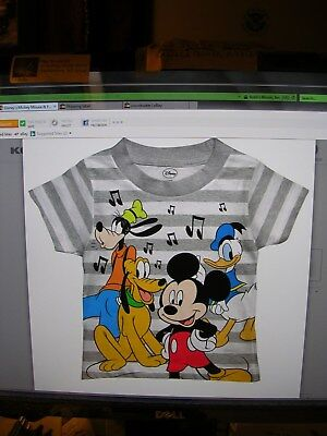 2019 -  MICKEY MOUSE TODDLER BOYS Short Sleeve TEE SHIRT SIZE 4T NWT#4NS18