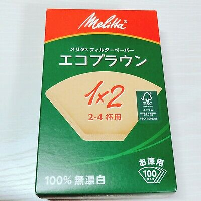 Melitta Japan Coffee Paper Filter Aroma Magic Natural Brown 2-4 Cups 100 Sheets