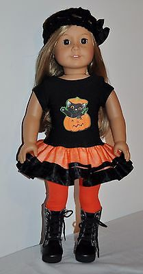 American Made Doll Clothes For 18 Inch Girl Dolls Dress  Lot- Pumpkin Dress
