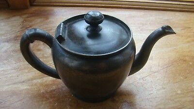 "Vtg Chas DeYoung Silverplate Quadruple Plate Teapot Tea Coffee Vintage 4"" Decor"