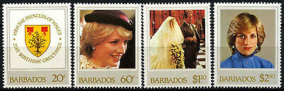 Barbados 1982 SG#705-8 Princess Of Wales 21st Birthday MNH Set #D43109