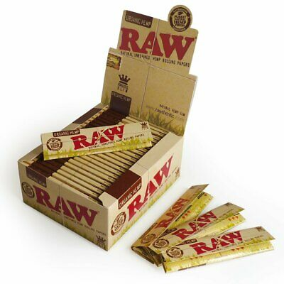 RAW HEMP ORGÁNICO KING SIZE Delgado Papel de Enrollar Cigarrillo 1 - 50