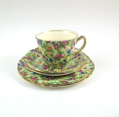 Royal Winton Kew Chintz  1 Cup   2 Saucers  2 Side Plates   A Backstamp  1940s