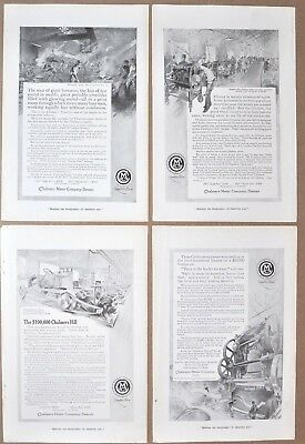 1914-15 CHALMERS MOTOR COMPANY advertisements x4, automobile factory images