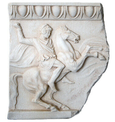 Alexander the Great of Macedon Sarcophagus Greek Hellenistic Sculpture plaque