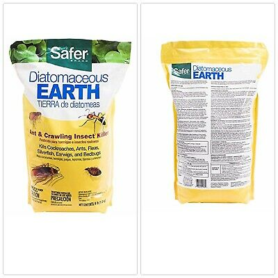 Safer Brand Diatomaceous Earth Bed Bug Flea And Ant Crawling Insect 4 Lb