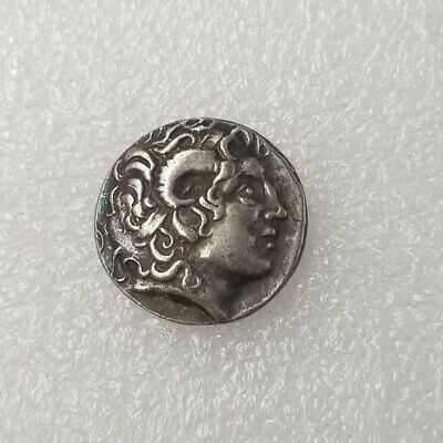 Ancient Alexander III The Great Greek Coin 336-323 BC Silver Plated Drachm