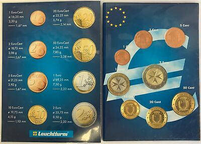 Malte 2008 - Serie Complete D'euro De Circulation Set