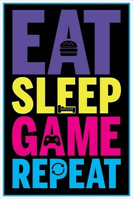 Poster Eat, Sleep, Game, Repeat Gaming Maxi 61x91.5cm