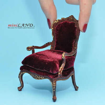 Victorian Armchair for dollhouse miniature 1:12 scale y4501 living room