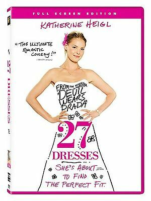 27 Dresses (DVD, 2008, Full Frame) Comedy with Katherine Heigl