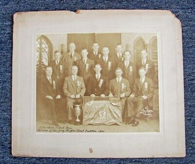 Vintage 1935 New Jersey Chieftain's Ritual Team Winners Sepia Tone Cabinet Photo