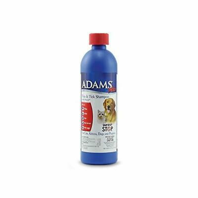 Adams Plus Flea Tick Shampoo with Precor For Dogs Puppies Cats and Kittens NEW