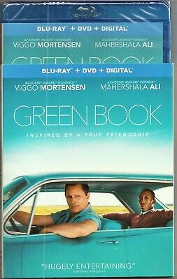 Green Book Blu-ray + DVD + Digital Mortensen Ali BRAND NEW