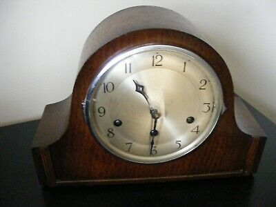 """Vintage """"comet - Mauthe"""" Chime Mantel Clock - Working"""