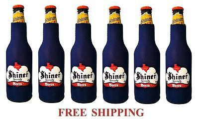 Spoetzl Brewery Shiner Beer 6 Bottle Suit Coolers Koozie Coolie Huggie New