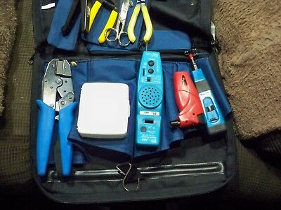 Tool's - Ideal canvas tool bag with LAN repair and installation tool kit