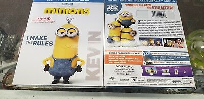 Minions Blu Ray / Dvd Exclusive Target Kevin slipcase New, Free Shipping