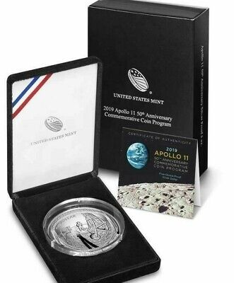 2019 5 oz Proof Apollo 11 American Silver Commemorative in O.G.P