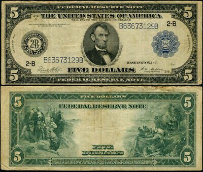 FR. 851 A $5 1914 Federal Reserve Note New York Fine
