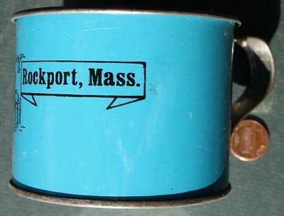 1960-70s Era Rockport,Massachusetts Atlantic Ocean souvenir tin cup-VINTAGE!*